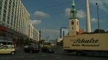 Alexanderplatz And Church Of Saint Mary, Berlin