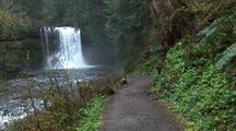 Walking Down Path Next To Creek