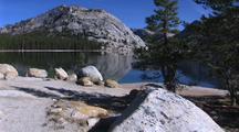 Walking In Yosemite In Fall Next To Lake