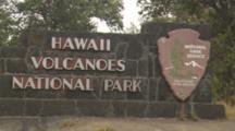 Entrance Sign For Hawaii Volcanoes National Park