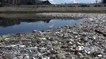 Trash Collects In Los Angeles River System