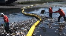 Workers Clean Up Trash Collected In Los Angeles River