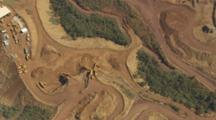 Aerial Over Nickel Mining In Mountains Of New Caledonia