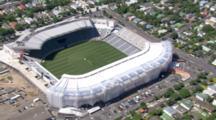 Aerial Over Eden Park Stadium In Auckland