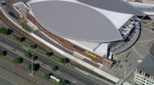 Aerial Down To Vector Arena In Aukland