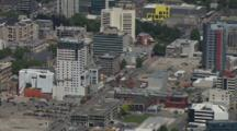 Aerial Pan Around City Of Christchurch
