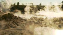 Rotorua Geothermal Area, Flying Through Steam