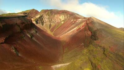 Aerial Of Volcanic Crater, Mount Tarawera
