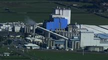 Aerial Of Dairy Plant, Factory