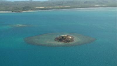 Australia Coral Reef Aerial Stock Footage