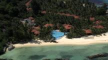 Aerial Cineflex Seychelles Stock Footage