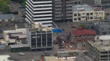 Aerial Christchurch Earthquake, Building Collapse