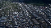 Very Wide Aerial Christchurch, After Earthquake