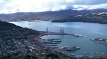 Aerial Christchurch Earthquake, Port Of Lyttelton
