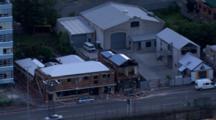 Aerial Christchurch Earthquake, Damaged Building, Brick Rubble