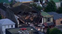 Aerial Christchurch Earthquake, Damaged Building