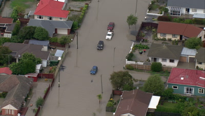 Christchurch Flooding Stock Footage