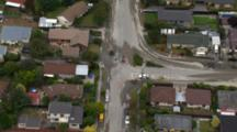 Aerial Christchurch Earthquake, Suburb Streets Flooded