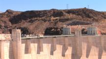 Walkway On Top Of Hoover Dam, Zoom Out