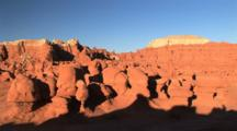 Unique Eroded Rock Formation In Goblin Valley State Park, Utah, Time Lapse