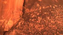 Petroglyphs, Newspaper Rock, Utah, Pan