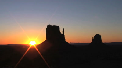 Sunrise On The Mittens, Monument Valley Navajo Tribal Park, Time Lapse