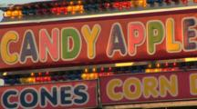 Candy Apple Snack Stand At The Carnival, Clark County Fair, Washington