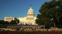Rally At Us Capitol Building, Washington D.C., Time Lapse