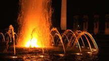 The Fountain At The World War Ii, Washington, D.C., Night