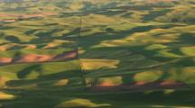 Sunrise Over The Landscape Of The Palouse, Washington Area From Steptoe Butte, Time Lapse