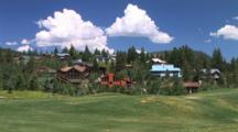 Homes Along A Golf Course In Mammoth Lakes, California
