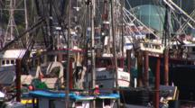 Fishing Boats In The Historic Port Of Newport, Oregon