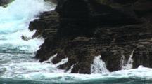 Rocky Coastline Near Sandy Beach, Hawaii