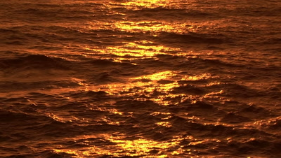 Reflections Of The Sunset On The Pacific Ocean In Newport, Oregon