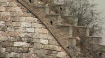 Profile Of The Great Wall And A Staircase, China, Jinshanling