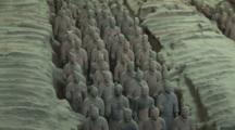 Terracotta Soldiers In Trenches, Mausoleum Of Emperor Qin Shi Huang, Xi'an, Shaanxi Province, China, Zoom Out