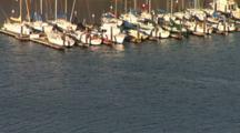 Pleasure Boats Moored In Marina