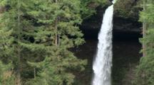 Waterfall In Silver Falls State Park Near Silverton, Oregon