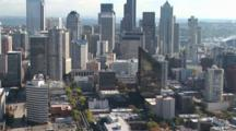 View Of Downtown Seattle, From The Space Needle, Seattle, Washington, Zoom Out