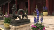 Bronze Dragon In Courtyard Guarding The Summer Palace, Beijing, China