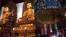 Two Golden Buddhas, Jade Buddha Temple, Shanghai, China, Zoom Out