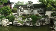 Large Piece Of Natural Jade Surround By Water, Yuyuan Garden, Shanghai, China