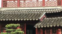 Tiled Chinese Roof, Yuyuan Garden, Shanghai, China, Zoom In