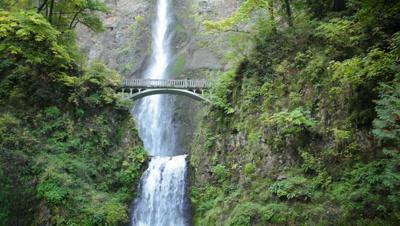 Historic Multnomah Falls In Oregon