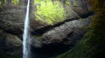 Waterfall, Latourell Falls Along The Columbia River Gorge, Oregon