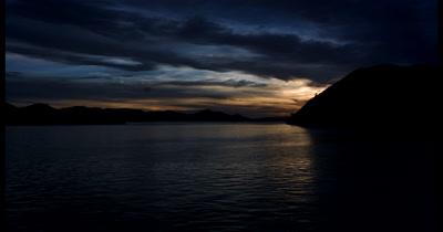 WS Tracking Sunset Reveal at Kalong Island,Komodo, Indonesia