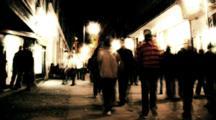 Time-Lapse Nightlife City Street