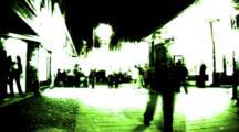 Timelapse Night Street Color Flash