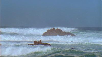 Pacific Ocean Storm Stock Footage