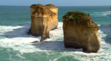 Shoreline And Offshore Cliffs Of Island Archway, Great Ocean Road